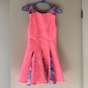 Pink colorful dress by nasty gal bodycon